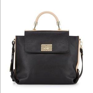 Badgley Mischka Bags - Badgley Mischka Adeline Leather Two-Tone Handbag